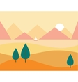 Seamless Cartoon Nature Landscape with Mountains vector image vector image