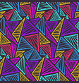 seamless pattern with colorful scratched triangles vector image vector image