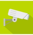 Security camera icon flat style vector image vector image