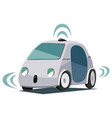 self-driving smart car poster vector image