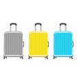 set a real wheeled travel bag vector image vector image