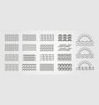 Set bundled wave icon logo minimal design line