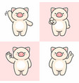 set cute pig characters vector image vector image