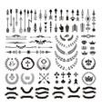 set of decorative design elements and page decor vector image vector image