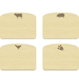 set of empty wooden cutting boards with animals vector image vector image
