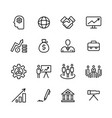 simple icon business corporate vector image vector image