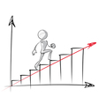 Simple People Steady Growth Chart vector image vector image