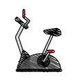 Spinning bike vector image