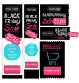 template elements for web banners Black Friday vector image