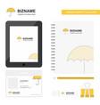 umbrella business logo tab app diary pvc employee vector image vector image