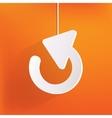 Undo icon back arrow symbol vector image