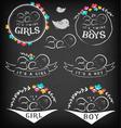 vintage bagirl boy and twins badge set vector image