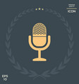 vintage microphone icon vector image vector image