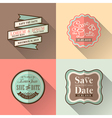 Vintage retro Wedding border and frames vector image