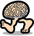 Walking brain vector image