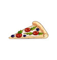 yellow slice tasty pizza with cutted olives and vector image vector image