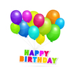 Happy Birthday theme colorful air balls vector image