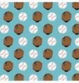 baseball club glove and ball design vector image