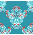 ethnic Damask flower seamless pattern background vector image