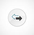2 side arrow icon 2 colored vector image