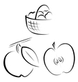 A set of logos depicting apples vector image vector image