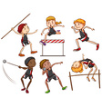A sketch of the different outdoor activities vector image vector image