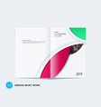 abstract double-page brochure design round style vector image vector image