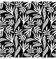 abstract floral seamless pattern with trendy hand vector image