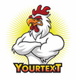 angry rooster mascot logo premium cartoon vector image