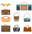 Bag and purse set Flat design vector image