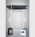 black friday special offer web banner vector image