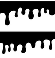 black melted chocolate drips vector image