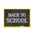blackboard back to school lettering vector image vector image