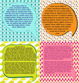 brochure design templates collectionspeach bubble vector image