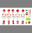 classic baseball player classic uniform vector image