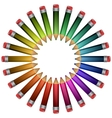 colored pencils lying around vector image vector image