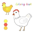 Coloring book chicken kids layout for game vector image vector image