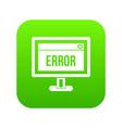 error sign on a computer monitor icon digital vector image vector image