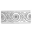 evolute spiral painting is a very heavy vintage vector image vector image