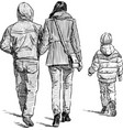 family at a stroll vector image vector image