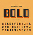 font and alphabet bold letter design and graphic vector image