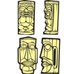 Four Tiki vector image vector image