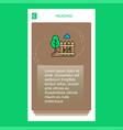 garden mobile vertical banner design design vector image