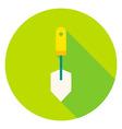 Garden Spade Tool Circle Icon vector image vector image