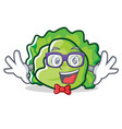geek lettuce character cartoon style vector image vector image