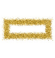 gold frame glitter texture isolated on white vector image vector image