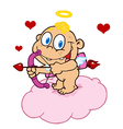 Happy Baby Cupid vector image vector image
