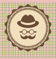 hipster style hat glasses wool on a light vector image vector image