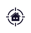 house search icon real estate concept vector image