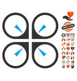 hover drone icon with love bonus vector image vector image